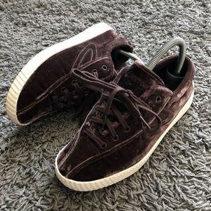 Madewell X Treton Nylite Velvet Lace Sneaker Shoe